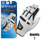 Bionic Golf Glove StableGrip - Mens Left Hand - White - Leather - All Sizes