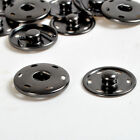 Купить 8/15/17/21/25/30mm Gunmetal Black Snaps Fastener Press Stud Sewing Sew On Button
