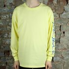 Polar Signature Long Sleeve T-Shirt Tee in Yellow in size S,M,L