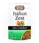 Keto snacks: Foods Alive Flax crackers low carb 2 pack 4oz (.5 to 4 net carbs)
