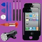For iPhone 4 4S Front Touch Screen Glass Lens Replacement Repair Tool Kit Glue