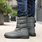 Men's Winter Snow Boots Warm Lined Hiking Mid-Top Waterproof Outdoor Shoes