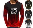 NEW Mens Long sleeve Michael Air Legend 23 Jordan Men shirt Tops Fitness Tumblr