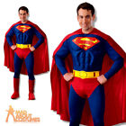 Adult Deluxe Superman Muscle Chest Costume Mens Superhero Fancy Dress Outfit