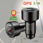 Car Charger Adapter 3.1A Dual USB Cigarette Lighter Adapter GPS Tracking Locator