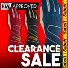 FIA Sabelt Touch FG-300 Blue Red Black Racing Rally Gloves Clearance Sale