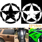 15*15cm ARMY Star Graphic Decals Motorcycle Vinyl Car-styling Car Stickers BIN