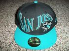 SAN JOSE SHARKS New NWT Mens Fitted Era HAT CAP 59 Fifty Black 7 3/4 3/8 1/2