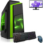 Ultra Fast Amd Dual Core Radeon Bundle 8gb Ddr4 1tb Gaming Pc Computer F3 Green