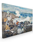 Maurice Brazil Prendergast - Rocks Waves and Figures