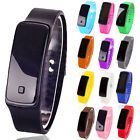 Fashion Men Women Digital LED Display Sports Jelly Silicone Band Wrist Watch Ban image
