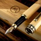 Fountain Pen Set Fine to Medium Nib Original Bamboo Wood With Eco Case