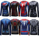 Girls Teen's 3D Marvel Superman Shirt Long Sleeve Gym Sports Cosplay Costume Top