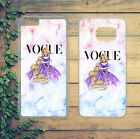 DISNEY FASHION VOGUE PRINCESS MARBLE PHONE CASE COVER FOR IPHONE SAMSUNG HUAWEI