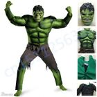 The Avengers Hulk Muscle Mask Costume boys Cosplay kids Carnival Fantasy Clothes