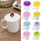 Fashion Cute Soft Silicone Lid Cap Coffee Mug Cup Cover Suction Seal Fruit Decor