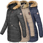 Geographical Norway Damen Jacke Wintermantel Parka Winterjacke Stepp Mantel Abby
