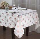 Внешний вид - HOLIDAY DECORATIVE TWINKLE FABRIC TABLECLOTH, DINING PARTY, 4 SIZES, GOLD SILVER