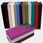 Luxury Percale Deep Fitted Sheet Plain Bed Sheet Non Iron Deep Fitted Bed Sheet  image