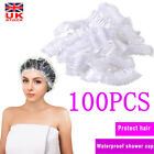 Kyпить Disposable Shower Bathing Elastic Clear Hair Care Protector Hat Mask Cap на еВаy.соm