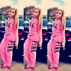 US 2Pcs Womens Top Tracksuit Hoodies Sweatshirt Pants Set Lounge Wear Sport Suit