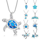 Charm Cute Animal Necklace Sea Turtle Silver Filled Pendant Women Gift Jewelry image