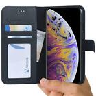 Abacus24-7 iPhone Xs Max Case Wallet Flip Cover Card Holders Pockets Stand...