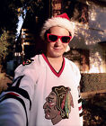 Christmas Vacation 00 Clark Griswold Movie CCM Hockey Jersey Chicago Blackhawks