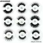 LEHUAMAO® 100Pairs/Set 3D Silk Protein Mink Lashes Faux Eyelashes Natural Long