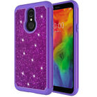 For LG Q7/LG Q7 Plus Glitter Case Shock Proof Hybrid Layers Bumper Slim Cover