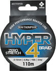 Ron Thompson Hyper 4-Braid - 4 Strand Fishing Braid 110m - All Breaking Strains