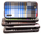 Apple iPhone 7 Case iPhone 8 Case Plaid Hard-Back Protective Armor Cover