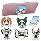 Cute Cartoon Dog Mobile Phone Holder Finger Ring Grip Mount Stand Universal 1PC