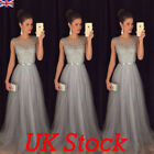 Uk Womens Party Evening Maxi Dress Cocktail Prom Gown Ladies Sequin Bridal Dress