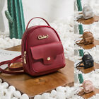 Women Girls Mini Faux Leather Backpack Rucksack School Bag Travel Handbag New