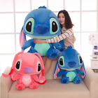 Blue Lilo Stitch Disney Official Lying Soft Stuffed Plush Toy Kids Birthday Gift