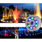 LED Fountain Pool Pond Lake Lamp Light 6W 9W 12W 18W RGB W Y Underwater IP68 12V
