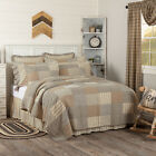 Farmhouse Bedding Miller Farm Quilt Cotton Patchwork Chambray image