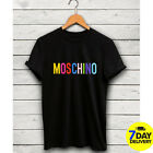 Moschino Milano T-Shirt Vintage Logo Shirt Famous Casual S-3XL Moschino Tee image
