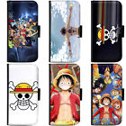 PIN-1 Anime One Piece Phone Wallet Flip Case Cover for Samsung