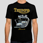 Triumph Bonneville T120 Unit Engine 100% Cotton T shirt $27.0 AUD on eBay
