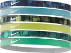 Nike Headband assorted 6/4 packs silicone for grip sports swoosh Print- VARIETY