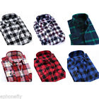 Mens Flannel Plaids Casual Shirts Cotton Slim Fit Long Sleeve Dress Shirt Top