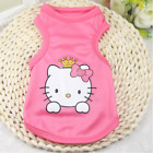 Внешний вид - Dog Clothes Hello Kitty Pink Dog Shirt Puppy T-Shirt Pink SMALL Dog or CAT Shirt