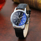 Fashion Men's Blu Ray Glass Watch Neutral Quartz Simulates The Wrist Watches image