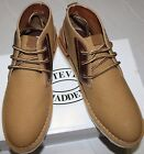 $100 STEVE MADDEN INTRUDER TAN FAB CANVAS CHUKKA BOOT