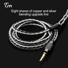 TRN 8 Core Knitting Silver Plated OCC Copper IEM 2.5/3.5mm Earphone Audio Cable.