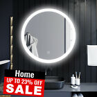 Round Led Illuminated Bathroom Mirror Make Up Light Smart Touch Control New