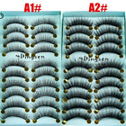 10 Pairs Natural False Eyelashes Fake Long 3D Mink Extension Lashes Eye Makeup