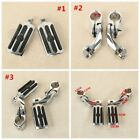 """1 1/4"""" 32mm 1.25"""" Short Angled Engine Guard Crash Bar Footpegs Pedals For Harley image"""